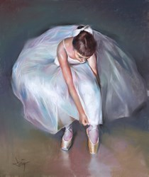 La Joven Bailarina I by Domingo -  sized 18x22 inches. Available from Whitewall Galleries